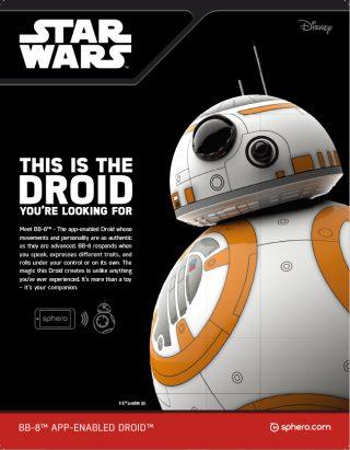 スターウォーズのニューキャラクター「BB-8」のラジコン、ネット販売情報!